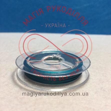 Біжутерний дріт мідний Margo d0,27-0,35мм/10м - бірюзовий