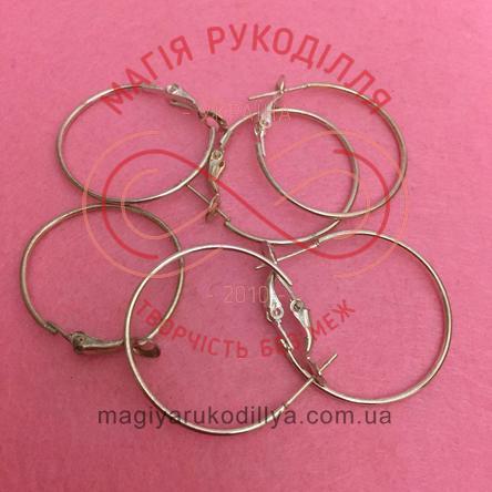 Основа-швенза для сережки сталь кругла d3см - сріблястий