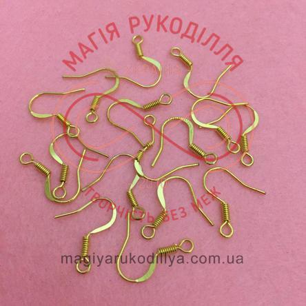 Основа-швенза для сережки сталь без кулі 1,6см*0,8см - золотистий