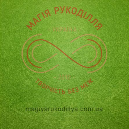 Фетр жорсткий - №41 відтінки зеленого