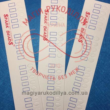 Органайзер-лінійка для муліне картонний 25місць/290мм*50мм