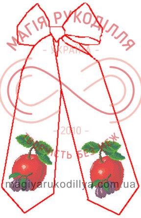 Схема для вишивання бісером бант габардин - БС-005 Бант на кошик до Спаса