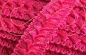 Тесьма самоса атласна шир.17мм - яскравий рожевий