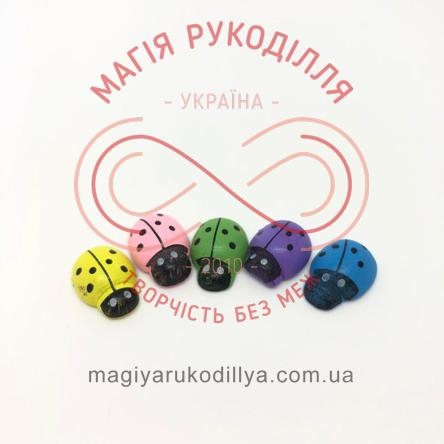 Комаха сонечко на липучці 20мм - №2 жовтий, зелений, синій, фіолетовий, рожевий