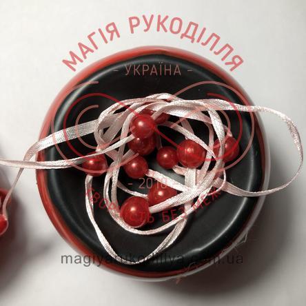 Намистинки на стрічці 500см - червоний намистинки