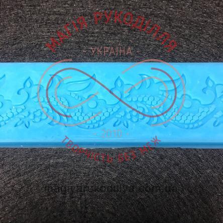 Кондитерський інструмент силіконовий коврик для гнучкого айсингу рослинний орнамент - №1