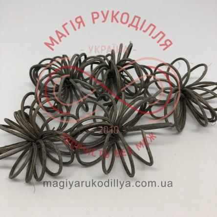Природний матеріал ротанг квітка спіральна d4,5см - сірий
