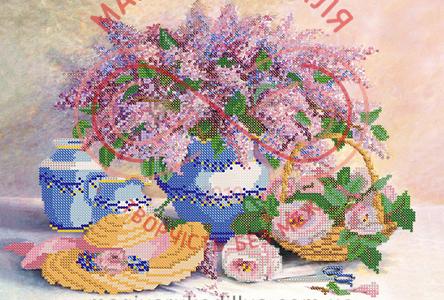 Схема для вишивання бісером картина атлас А3 (Марічка) - РКП-124 Аромати весни