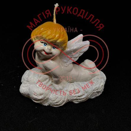 Свічка ангелятко 8,5см*10,0см - білий
