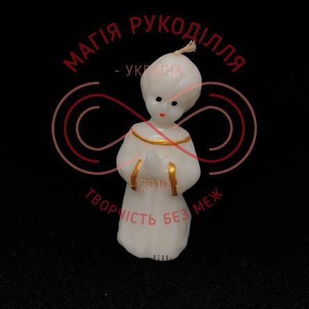 Свічка ангелятко h9,0см - білий