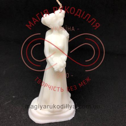 Свічка (основа для розфарбування) наречені h13см - білий