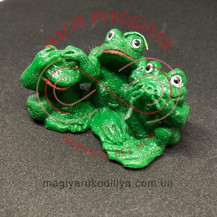 Свічка три жабки 9,0см*9,5см - зелений