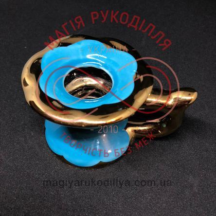 Підсвічник d8,0 h5,5см - блакитно-золотистий