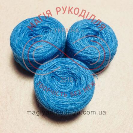 Нитка акрилова для вишивання - №100/337 відтінки синього