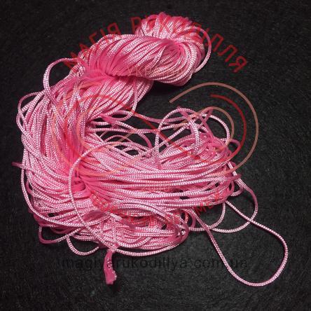 Нитка атласна для макраме d1мм/метр - рожевий