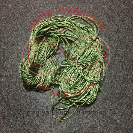 Нитка атласна для макраме d1мм/метр - темний зелений