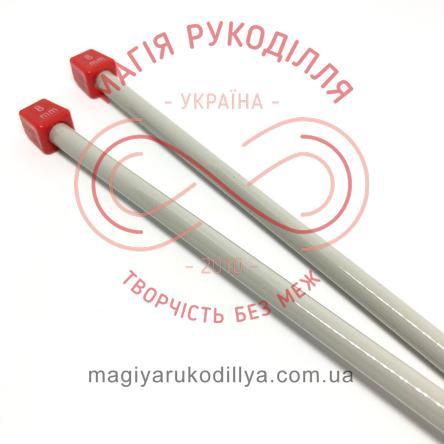 Спиці прямі тефлонове покриття (набір 2шт.) 8,0/35см