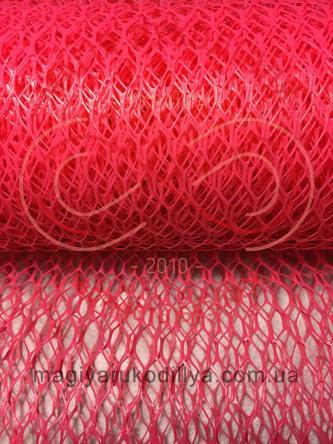 Флористична сітка-соти пластикова - рожевий