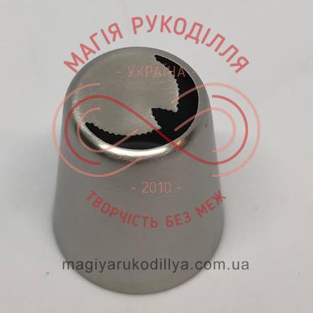 Кондитерський інструмент насадка нержавійка безшовна d23мм листочок №11