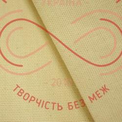 Тканина для живопису двонитка 40см*50см (Україна) - екрю