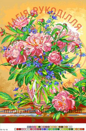 Схема на канві для вишивання хрестиком картина - А3-16-18
