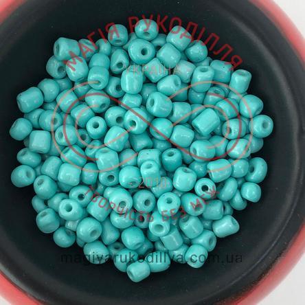 Бісер Китай 6/50грам - №015/KQ5555 бірюзовий перлистий