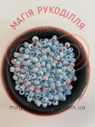 Бісер Китай 6/50грам - №018/143 блакитний перлистий