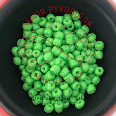 Бісер Китай 6/50грам - №019/5508 зелений світлий перлистий