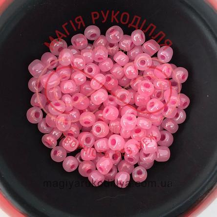 Бісер Китай 6/ваговий - №020/145 рожевий перлистий