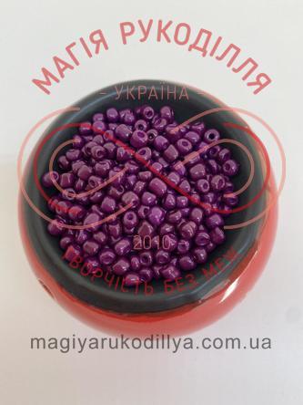 Бісер Китай 6/50грам - №022/KQ34 фіолетовий перлистий