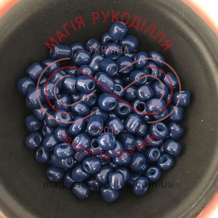 Бісер Китай 6/ваговий - №024/KQ5519 синій темний перлистий