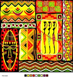Схема на канві для вишивання хрестиком подушка - П3-16-28
