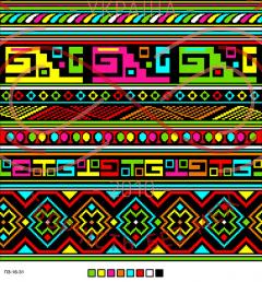 Схема на канві для вишивання хрестиком подушка - П3-16-31