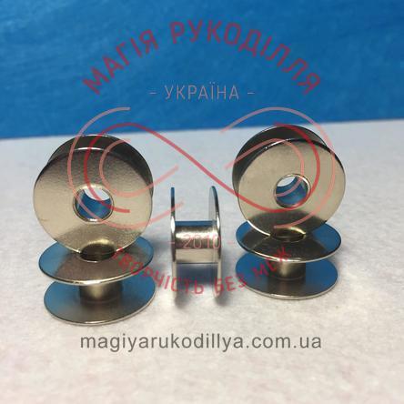 Шпулька для побутових швейних машин d21мм h9мм - метал хром
