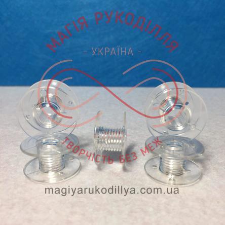 Шпулька для побутових швейних машин d21мм h10мм - пластик прозорий