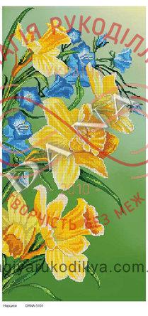 Схема для вишивання бісером картина габардин панно - DANA-5101 Нарциси