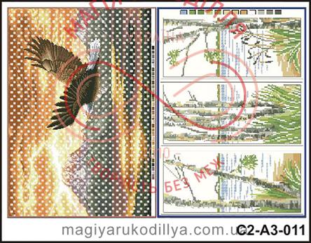 Схема на папері для вишивання хрестиком - С2-А3-011